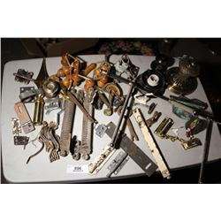 Tray Lot-Hinges, Hardware, Light Fixtures