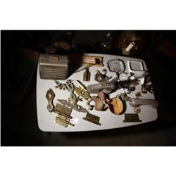 Tray Lot-Hardware, Speaker, Corporate Stamp