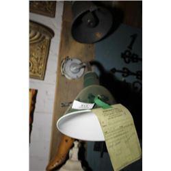 Vintage Green Light Fixture