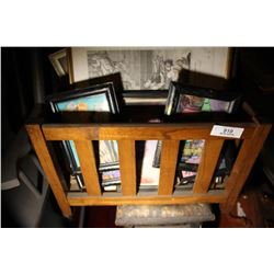 Lot Of Pictures & Oak Newspaper Stand