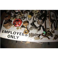 Mixed Lot-Door Handles & Employees Only Sign