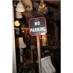 Antique No Parking Sign