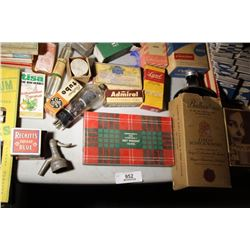 Tray Lot- Advertising & Products, Etc.