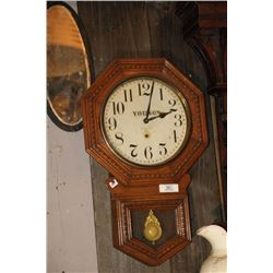 Young's Wooden Wall Clock