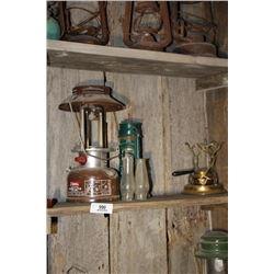 Shelf Lot-Coleran Lanterns Etc