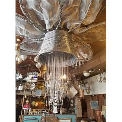 Large Decorative Chandelier Built out of Electrical Wire Approx 8 ft diameter