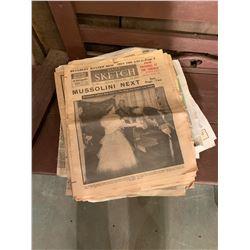 Stack of Vintage Paper