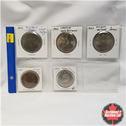 Great Britain - 5 Coins/Medallions: 1953 QEII Coronation Medal, 1937 Geo VI Coronation Medal, 1953 Q
