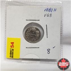 1881H Canada 5¢ Silver