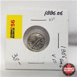 1886 Canada 5¢ Silver  Sm 6