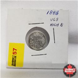 1888 Canada 5¢ Silver