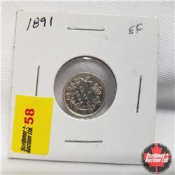 1891 Canada 5¢ Silver