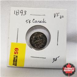 1893 Canada 5¢ Silver