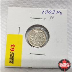 1903H Canada 5¢ Silver  Sm H