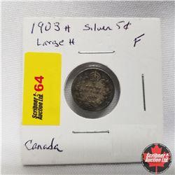 1903H Canada 5¢ Silver  Lg H