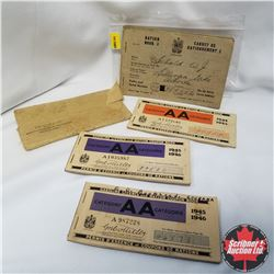 WWII Ration Books (7): Most include stamps, gas/groceries