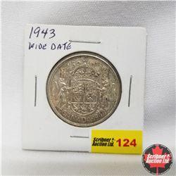 1943 Canada 50¢ Wide Date