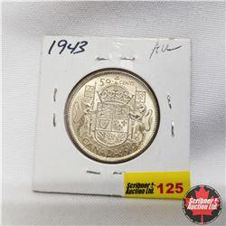 1943 Canada 50¢  AU UNC