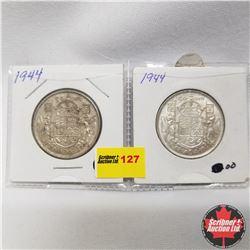 Canada 50¢  - Strip of 2: 1944