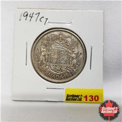 1947 Canada 50¢  Curved 7