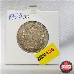 1953 Canada 50¢  Small Date
