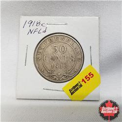 1918c Newfoundland 50¢ Silver