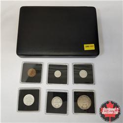 Newfoundland 6-Coin Set: 1¢(1942), 5¢(1945), 10¢ (1945), 20¢ (1912), 25¢ (1917), 50¢ (1918) in Quadr