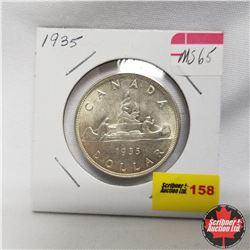 1935 Canada Silver Dollar MS65