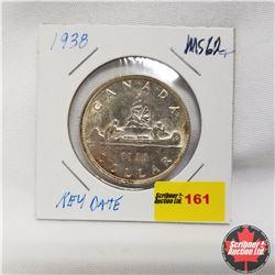 1938 Canada Silver Dollar KEY DATE MS 62