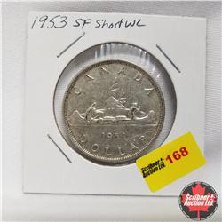 1953 Canada Silver Dollar SF SWL