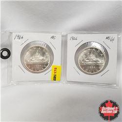 Canada Silver Dollar - Strip of 2: 1966