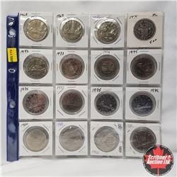 Canada Nickel Dollars - Sheet of 16: 1968-1982 & 1986