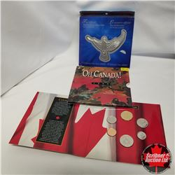 2000The Official Millennium Keepsake by Canada Post & 1995 RCM OH CANADA Uncirculated Coin Set