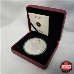 2014 Canada $50 Fine Silver 5 oz. Coin, Swimming Beaver, 909/1500