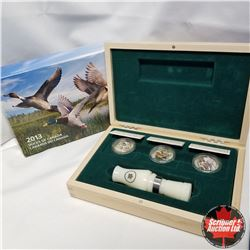 2013 Ducks of Canada $10 Fine Silver 3 Coin Box Set :  Wood Duck, Mallard,  The Northern Pintail wit