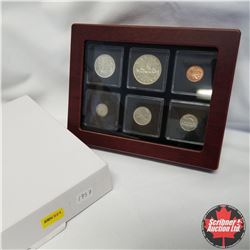 1957 Canada Silver Year Set in Display Box, $1, 50¢, 25¢, 10¢, 5¢, 1¢