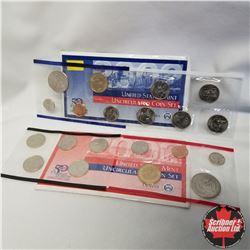 2002 USA Mint UNC 2 Sets (D & P Mint Marks)