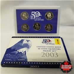 2003 USA Mint Proof Set, State quarters