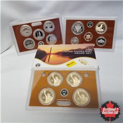 2013 USA Mint Proof Set includes 4 Presidential $1 coins, 5 Proof State Quarters, Sacagawea $1 and Y