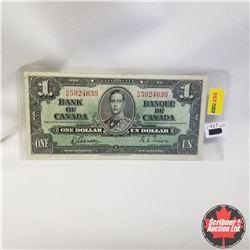 1937 Bank of Canada $1 Bill Gordon/Towers S/N#NM5924639