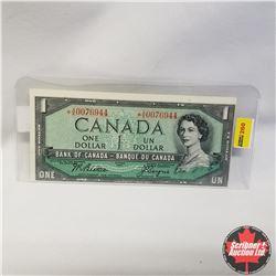1954 Canada $1* Bill, Replacement, A/A0076944, Beattie/Coyne