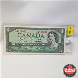 1954 Canada $1 Bill, Short Series, UNC, F/P4425035, Beattie/Rasminsky