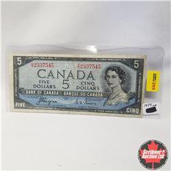 1954 Canada $5 Bill, Devil's Face, C/C2337545, Coyne/Towers
