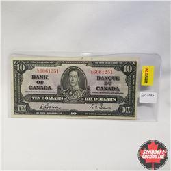 1937 Bank of Canada $10 Bill, L/D6061251, Gordon/Towers