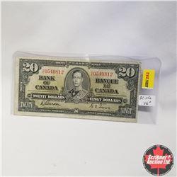1937 Bank of Canada $20 Bill, H/E0549812, Gordon/Towers