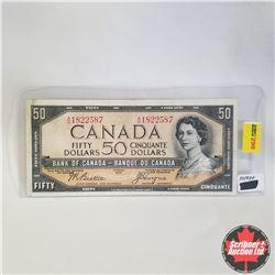 1954 Canada $50 Bill, Devil's Face, A/H1822587, Beattie/Coyne