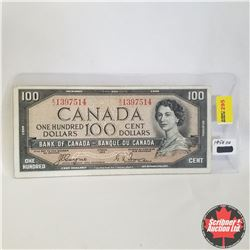 1954 Canada $100 Bill, Devil's Face, A/J1397514, Coyne/Towers