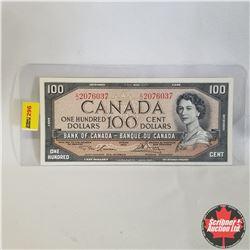1954 Canada $100 Bill, C/J2076037, Lawson/Bouey