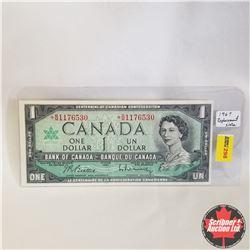 1967 Canada $1* Bill, Replacement, B/M1176530, Beattie/Rasminsky