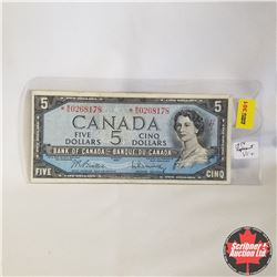 1954 Canada $5* Bill, Replacement, W/S0268178, Beattie/Rasminsky